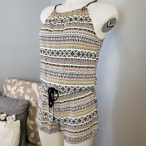 Old Navy abstract print romper